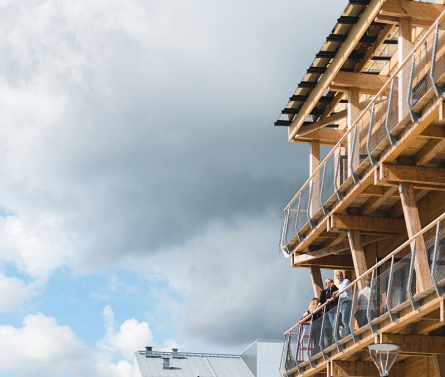 Timber construction enabling adaptability at a new level